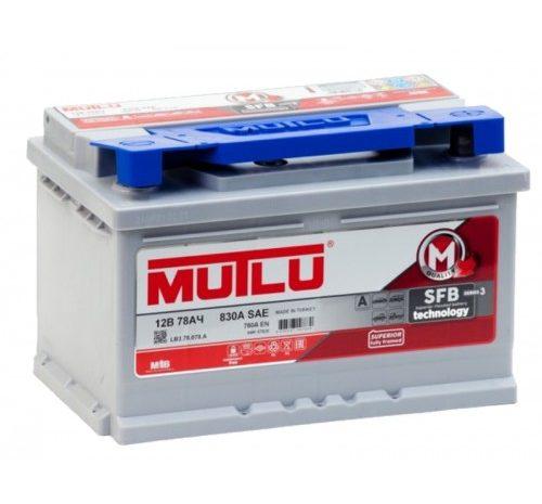 Аккумуляторная батарея Mutlu SFB M3 78 Ач 830А ПП