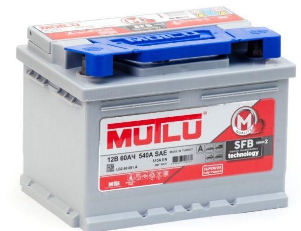 Аккумуляторная батарея Mutlu SFB M2 6СТ-60.0 ОП Низкая
