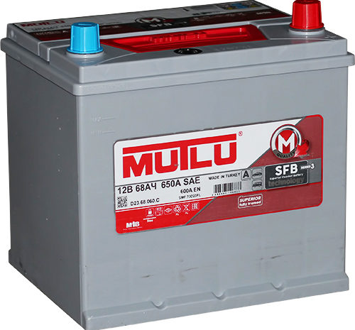Аккумуляторная батарея Mutlu SFB M3 68Ач (70D23FL)