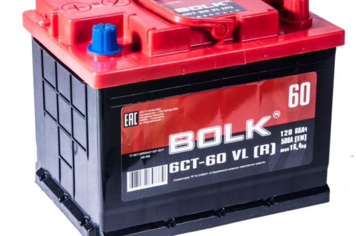 Аккумулятор автомобильный BOLK 60  242/175/190 оп 60Ач 500А
