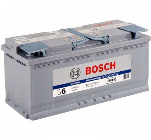 Аккумуляторная батарея BOSCH SILVER PLUS S6 AGM (605 901 095)