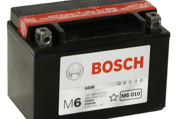 Аккумулятор Bosch M6 010 AGM (YTX9-BS)