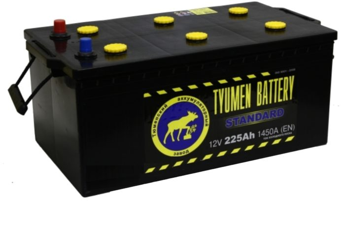Аккумуляторная батарея TYUMEN battery STANDART  6СТ-225 L