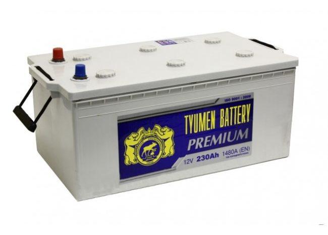 Аккумуляторная батарея TYUMEN battery PREMIUM  6СТ-230 L