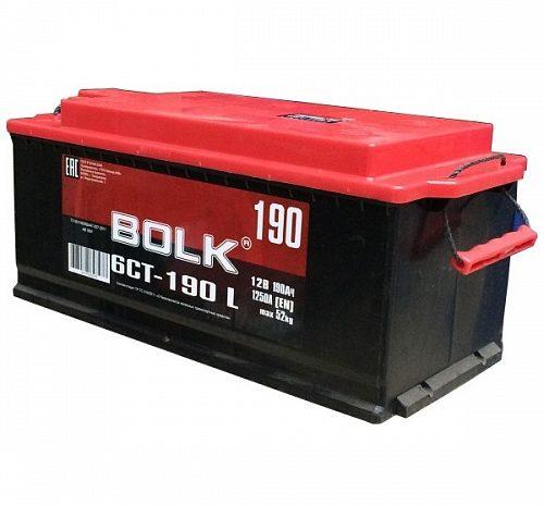 Аккумулятор автомобильный BOLK Standart 190Ач пп 1200А