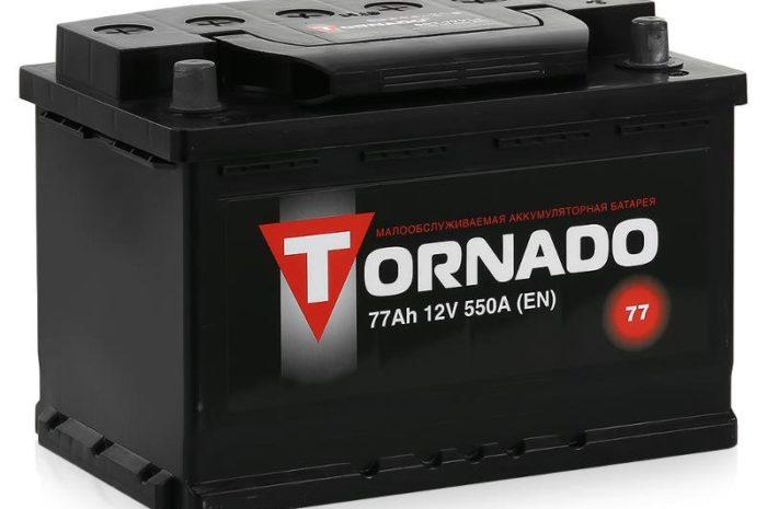 Аккумуляторная батарея TORNADO 6СТ-77АЗ  ПП