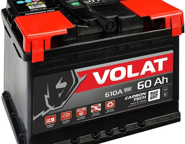 Аккумуляторная батарея VOLAT 60 Ah 610A ОП
