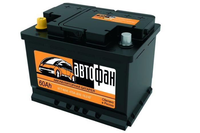 Аккумуляторная батарея АВТОФАН 60 Ah ПП