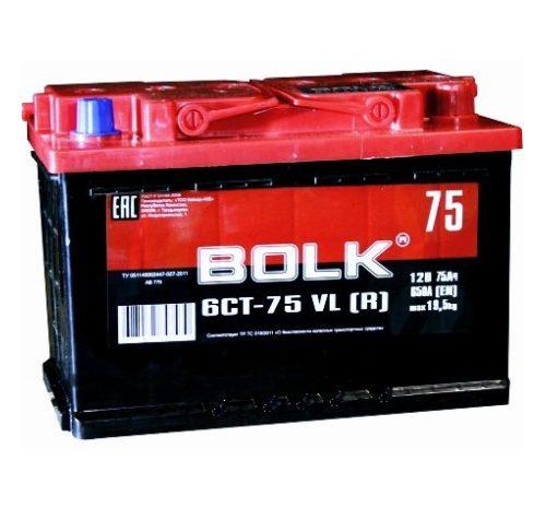 Аккумулятор автомобильный BOLK 75  278/175/190 оп 75Ач 650А
