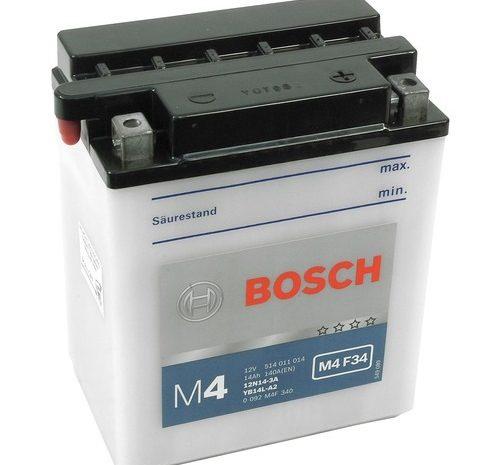Аккумулятор Bosch M4 F34 (12N14-3A)