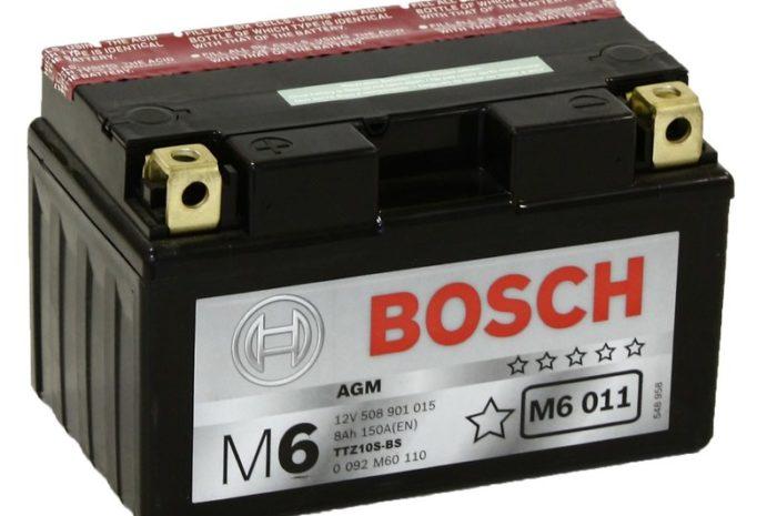 Аккумулятор Bosch M6 011 AGM (YTZ10S-BS)