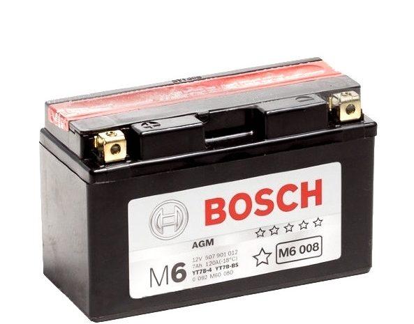 Аккумулятор Bosch M6 008 AGM (YT7B-BS)
