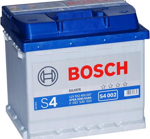 Аккумуляторная батарея BOSCH SILVER S4 002