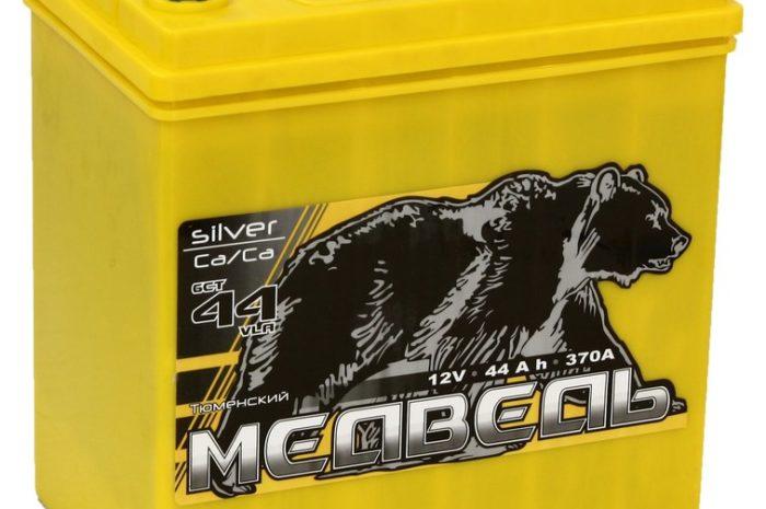 Аккумуляторная батарея Медведь Silver Ca/Ca 6СТ-44VLA 50B19R
