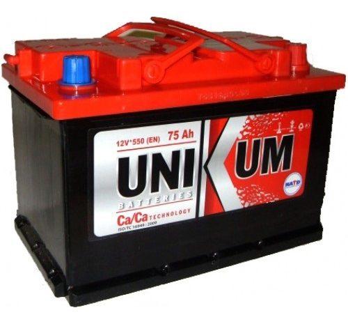 Аккумуляторная батарея UNIKUM 75 Аh оп